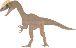 painted brown dinosaur