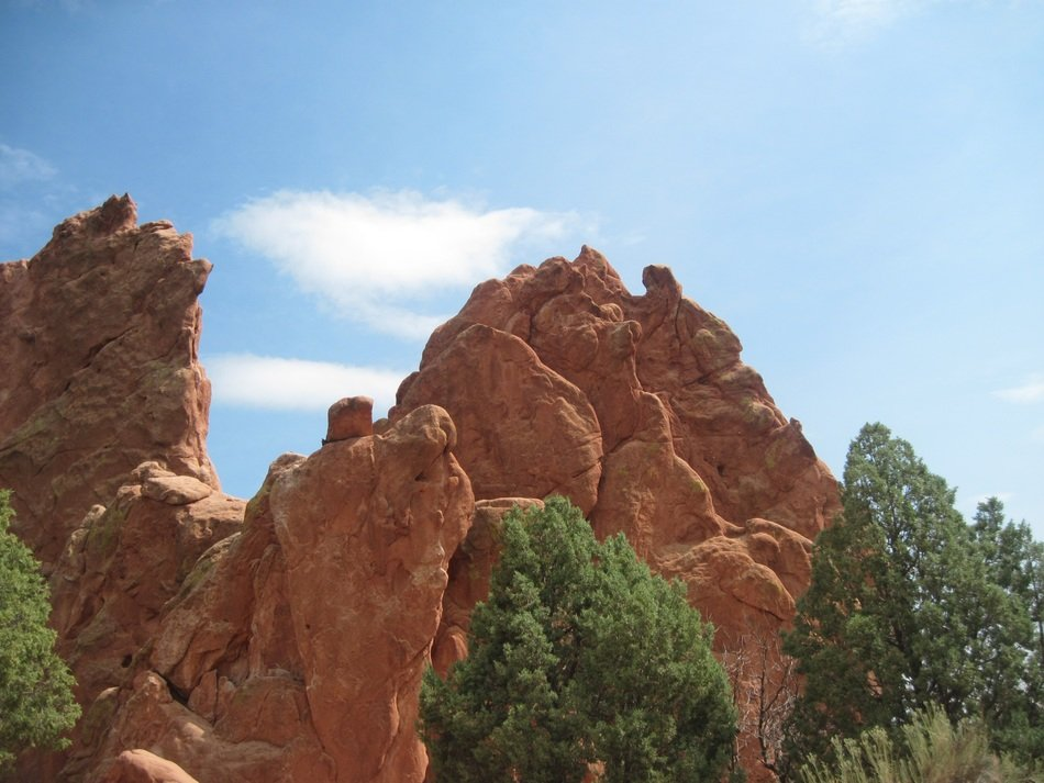 The rock in Garden of the Gods, Colorado Springs, Colorado