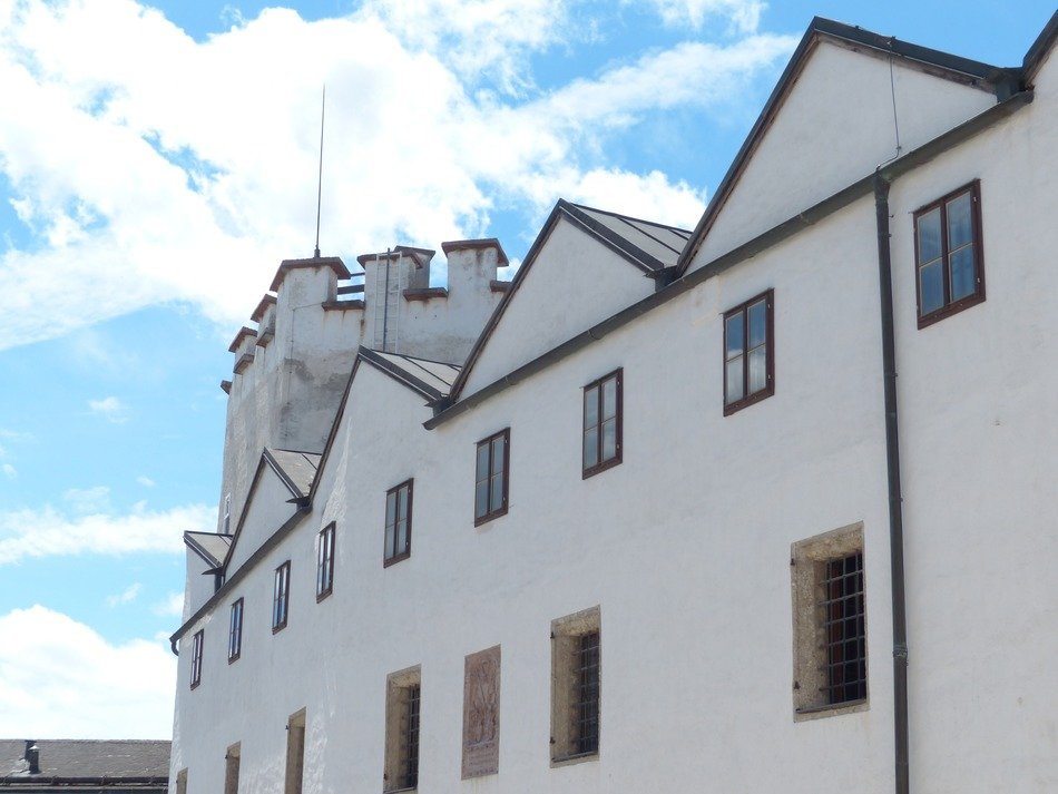fortress with white walls