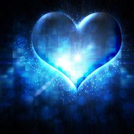 abstract heart on a blue background