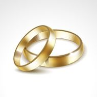 Gold Wedding Rings Isolated N3