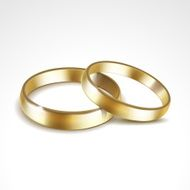 Gold Wedding Rings Isolated N4