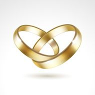 Gold Wedding Rings Isolated N5