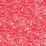 Red simple rose seamless pattern