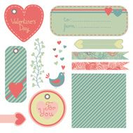 Valentine's Day set of design elements N5