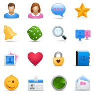 Online Dating Icon Set