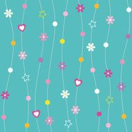 hearts flowers dots and stars pattern N2