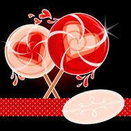 Two Valentine Lollipops