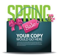 Spring Sale shopping bag background EPS 10 vector