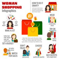 Woman shopping infographic N2