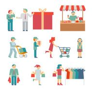 Vector Shopping Characters N2
