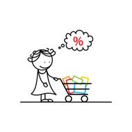 Young woman with shopping cart N2