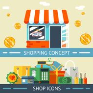 Shopping Concept and Icons Designs N2