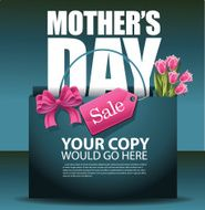 Mothers Day sale shopping bag background EPS 10 vector