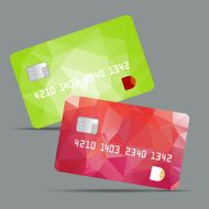 Blue credit card vector illustration highly detailed