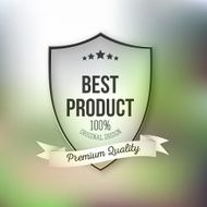 Best product shield isolated on blurred background N2