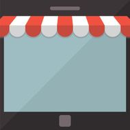 Abstract background Mobile store concept
