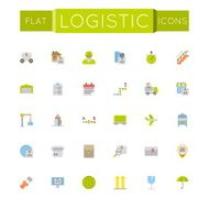 Vector Flat Logistic Icons