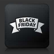 Black Square Button with Friday Sale Icon N2