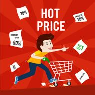 Businessman shopping sale hot price