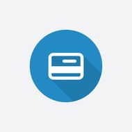 credit card Flat Blue Simple Icon with long shadow