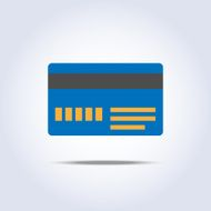 Blue color credit card icon