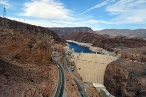 highway along the Hoover Dam in Colorado