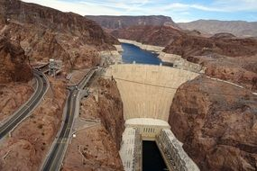 bird's-eye view at the Hoover Dam
