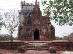 old clay temple from the past