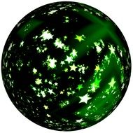 Christmas decoration in the form of a green round ball
