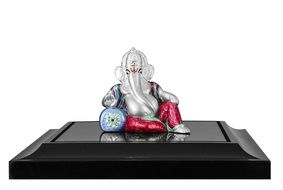 silver figure of indian god ganesha