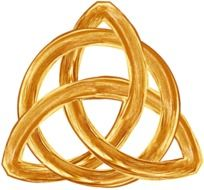 trinity gold symbol drawing