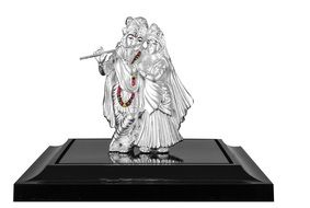 silver figures of radha and krishna