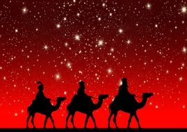 holy three kings camels ride