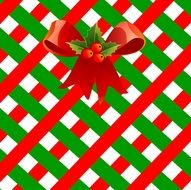 Christmas decorative background with a bow