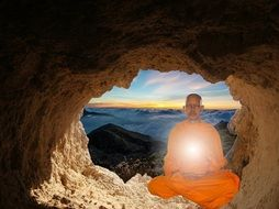 monk buddhism meditation