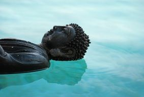 buddha statue on the water