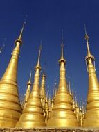 pagoda spires temple