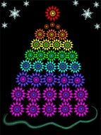 christmas tree fir star drawing