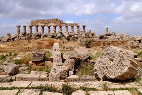 ruins of selinunte in sicily