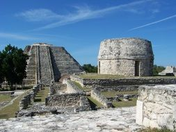 Ruins of the ancient Mayan civilization in Mexico