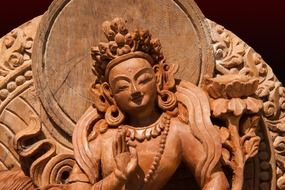 statue of tara female peaceful manifestation