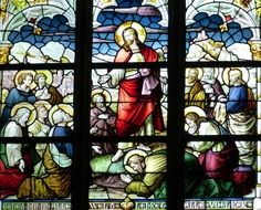 new testament story on the church window