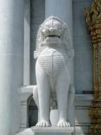lion temple guardian Thailand