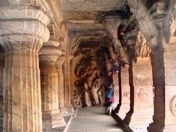 badami cave temples sand stone