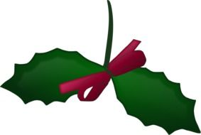 christmas holly xmas ribbon