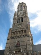 belfry of bruges church in Belgium
