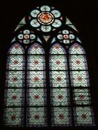 Paris notre dame stained glass window