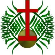palm sunday logo drawing