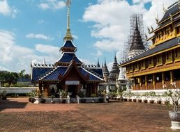 North Thailand temple complex